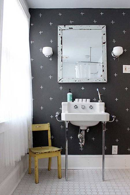 Exciting-Powder-Room-Design-with-Chalkboard-Decoration